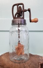 """Butter Churn With 7"""" Glass Jar"""
