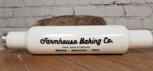 Milk Glass Bakers Rolling Pin