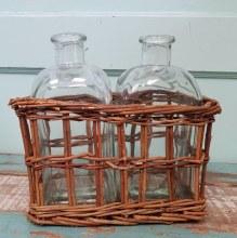 Double Willow Bottle Basket