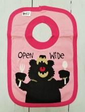 Pink Open Wide Bib
