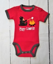 Happy Camper Creeper 12mth Red