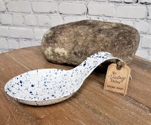 Blue Speckled Spoon Rest