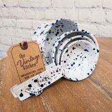 Blue Speckled Measuring Cups