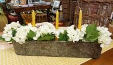 Floral Candle Trough