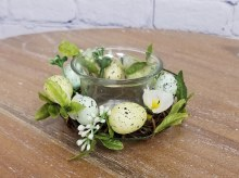 Candle Holder Twig And Egg