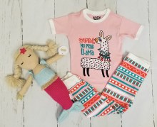 No Prob Llama Adorable Short Sleeve Pjs With Pants