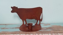 Metal Cow Candle Holder