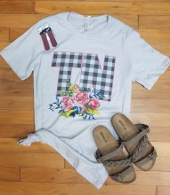 Gingham Floral Tennessee Shirt