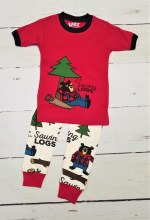 Ss Sawing Logs Pjs 3t Red