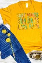 Short Sleeve Boat Waves Sun Rays Lake Days Tye Dye T shirt