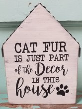 Cat Fur Shelf Sitter