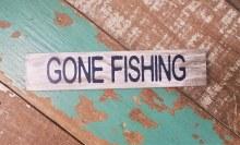 Gone Fishing Shelf Sitter