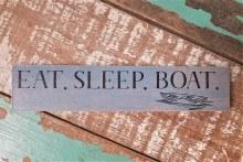 Eat Sleep Boat Shelf Sitter