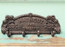 Haircut & Shave Bathroom Hook