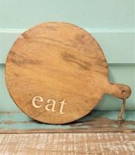 Eat Round Cutting Board