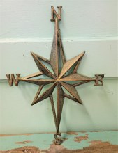 Cast Iron Green Compass