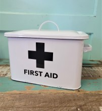 First Aid Enamel Box With Lid