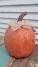Burnt Orange Resin Pumpkin