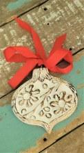 Bulb Wood Christmas Ornament