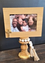 Wood Picture Frame With Gold
