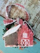 Barn Wreath Christmas Ornament