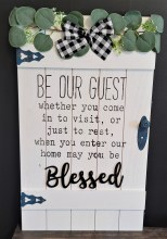 Be Our Guest Wood Wall Sign