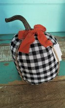 Buffalo Plaid Fabric Pumpkin