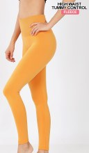 Mustard Thermal Leggings With Tummy Control