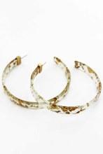 Gold Flecked Large Hoop Earrin