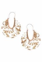 Gold Flecked  Hoop Earrings