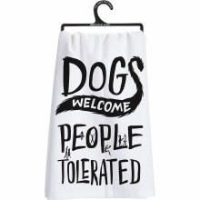 Dogs Welcome Hand Towel