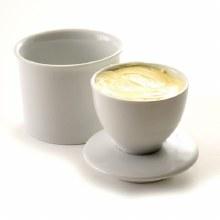 White Porcelian Butter Keeper