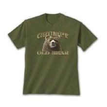 Short Sleeve Grumpy Old Bear Graphic Tee