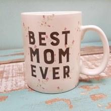 Floral Best Mom Ever Mug