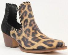 Suede Leopard Boot 6 Black