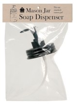 Soap Pump Mason Jar Lid Black