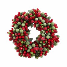 """4"""" Red And Green Candle Ring"""