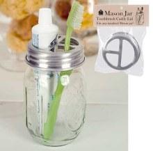 Toothbrush Mason Jar Lid