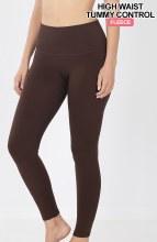 Brown Thermal Tummy Control Leggings