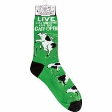 Live Like Gate Left Open Socks