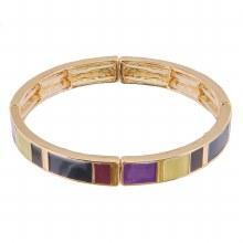 Purple Rectangle Bracelet
