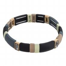 Brown & Grey Stretch Bracelet