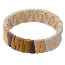 Brown Triangle Stretch Bracele