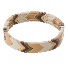 Brown Chevron Stretch Bracelet