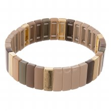 Brown & Gold Stretch Bracelet