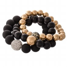 Black Gold Bead Bracelet