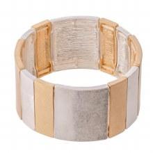 Brushed Silver & Gold Bracelet