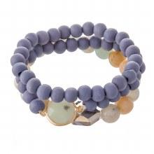 Blue & Teal Bead Bracelet