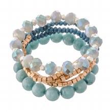 Blue & Gold Bracelet Set