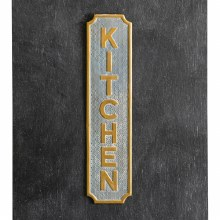 Grey And Gold Kitchen Sign